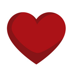red love heart gift romance icon vector image vector image