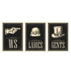 Toilet retro vintage grunge poster Ladies Cents vector image vector image