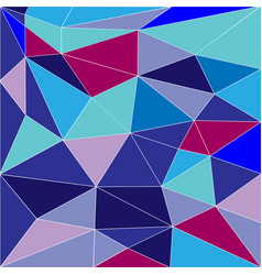 abstract low poly background of triangles vector image vector image