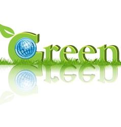 eco green concept vector image vector image