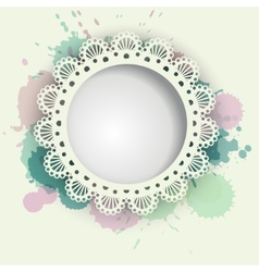 gentle women and children background with napkin vector image