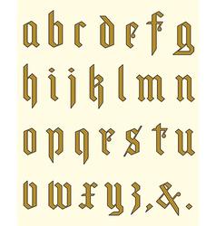 Gothic alphabet vector image