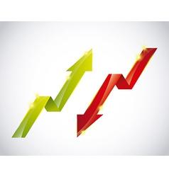growth symbol vector image vector image