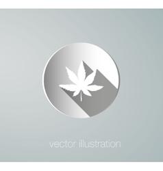 icon cannabis paper vector image