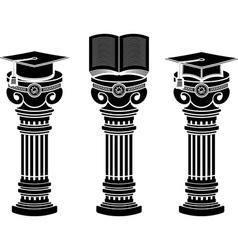 pedestals of education vector image