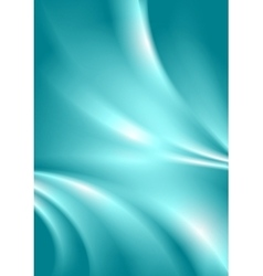 Abstract cyan blue smooth wavy background vector