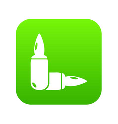 Ampoules icon green vector