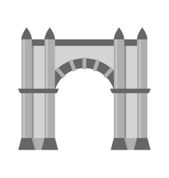 Arch icon isolated vector image