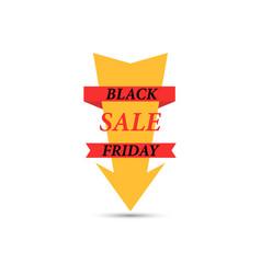 Arrow with the inscription black friday sale vector