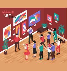 Art gallery venue composition vector