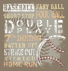 Baseball terms revise vector