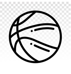 Basketball line art icons for sports apps vector