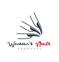 Beauty nail hand logo vector