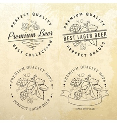 Beer emblems and labels vector image