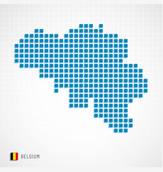 Belgium map and flag icon vector
