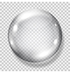 Big transparent gray sphere vector