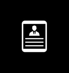 Business profile flat design vector