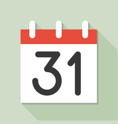 Calendar and number calendar icon set flat design vector