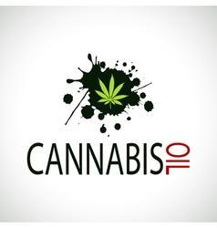Cannabis Oil-Marijuana vector