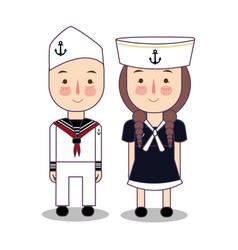 Cartoon of cute nautical vector