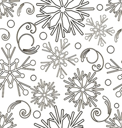 Christmas and New Year monochrome seamless pattern vector image