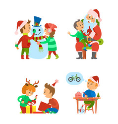 christmas holidays and celebration of winter event vector image