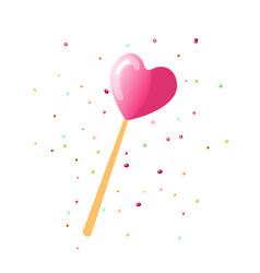 Cute cartoon sweet lollipop icon colored vector
