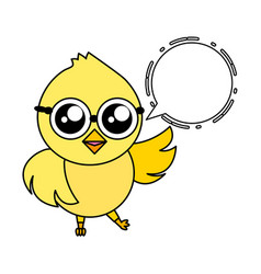 cute chick cartoon vector image