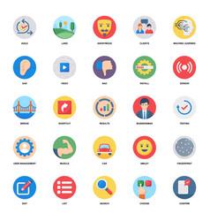 Data analytics flat icons pack vector