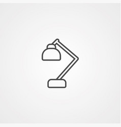desk lamp icon sign symbol vector image
