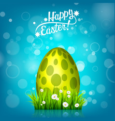 Easter egg hunt blue background april holidays vector