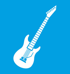 electric guitar icon white vector image