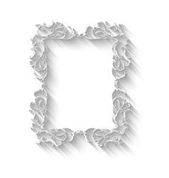 Elegant paper retro floral frame Hand drawn vector image