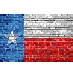 Flag of texas on a brick wall vector