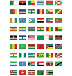 Flag set of all african countries vector