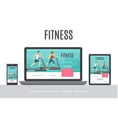 flat fitness adaptive design concept vector image
