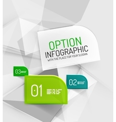 fresh business abstract infographics vector image