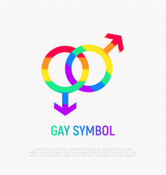 gay symbol in rainbow color vector image