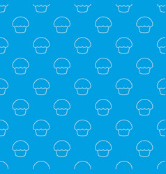 glaze cupcake pattern seamless blue vector image