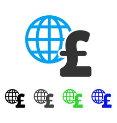 Global pound economics flat icon vector