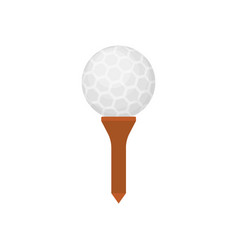 golf ball icon on tee isolated on white background vector image