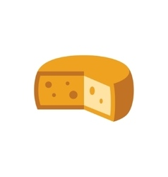 Holandaise cheese simplified icon vector