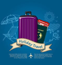 holiday travel poster travel or vacations concept vector image