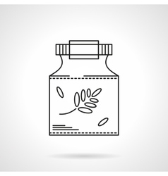 Homeopathy icon flat thin line icon vector