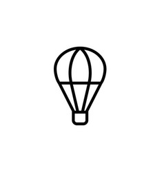 hot air balloon icon thin line black vector image