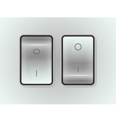 Icon on off switch vector
