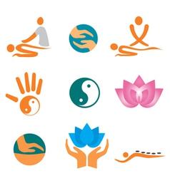 Icons massage vector
