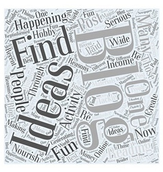 ideas for blogging Word Cloud Concept vector image