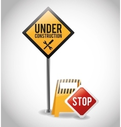 Isolated under construction design design vector image