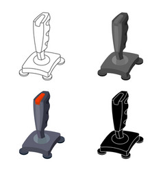 Joystick icon in cartoon style isolated on white vector